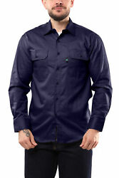 KS04 Kolossus Men#x27;s Lightweight Cotton Blend Long Sleeve Work Shirt