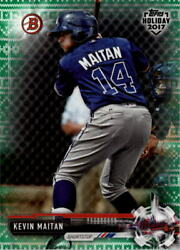 2017 Bowman Topps Holiday Ugly Sweater Green #THKM Kevin Maitan 99 - NM-MT $8.00