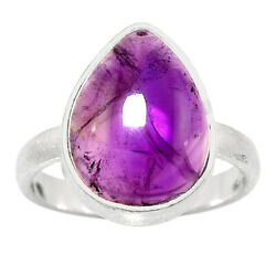 Amethyst - Africa 925 Sterling Silver Matte Finish Ring Jewelry s.8 AR48903
