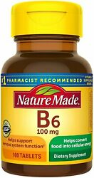 Nature Made Vitamin B6 100 mg Tablets 100ct 1 Pack $12.62