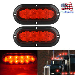2Pcs 10 LED Trailer Truck StopTurnTail Brake Lights 6