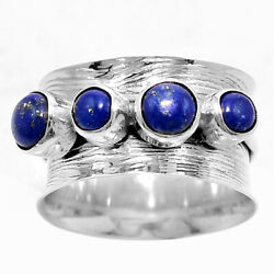 Matte Finish - Lapis 925 Sterling Silver Handmade Ring Jewelry s.7 AR51003
