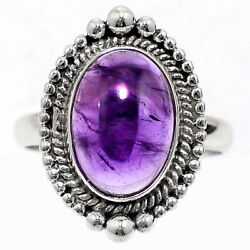 Artisan - Amethyst - Africa 925 Sterling Silver Ring Jewelry s.9 AR58927