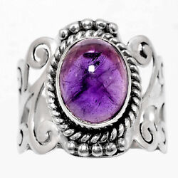 Artisan - Amethyst - Africa 925 Sterling Silver Ring Jewelry s.6.5 AR55476