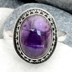 Amethyst - Africa 925 Sterling Silver Handmade Ring Jewelry s.8.5 AR62430