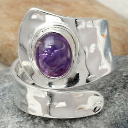 Amethyst - Africa 925 Sterling Silver Handmade Ring Jewelry s.8.5 AR63632