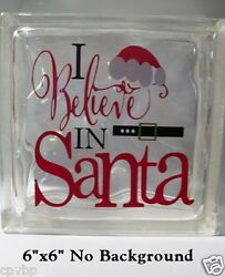 I Believe in Santa Christmas Decal Sticker for DIY 8