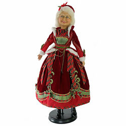 Katherines Collection 24quot; Mrs Claus Doll Red Plaid Holly Santa Christmas Decor $276.44