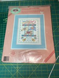 Dimensions From The Heart CAROUSEL BIRTH RECORD Cross Stitch Kit NEW