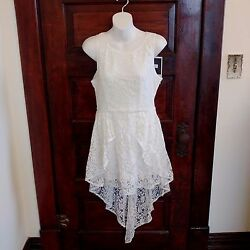 Minkpink Womens Dress XS With Short Train Sleeveless Lace Lined Adorable New $25.29