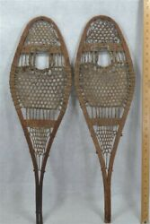 snowshoes child 28 in handmade beaver Wright Ditson native made antique rare $165.00