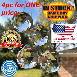 3pc 40mm 1.57 inch Crystal Ball Prism Chandelier Hanging Suncatcher Feng Shui