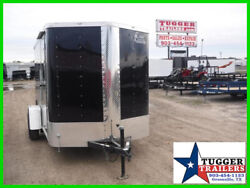 6X10 10ft Cargo Enclosed Ramp Flat Nose Camp Work Play Tailgate Sport Trailer
