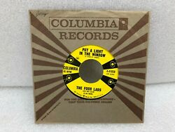 THE FOUR LADS Put A Light In The Window Things We Did Summer 45 RPM Columbia VG+