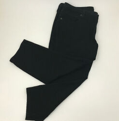 Lucky Brand Womens Plus Size 20W Black Ginger Skinny Ankle Stretch Denim 40x25