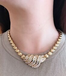 Large Diamond Pendant Necklace wRounds and Baguettes 18k Yellow Gold - HM1873ZA