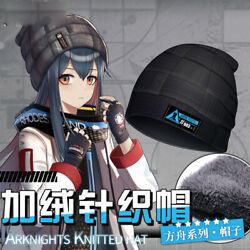 Arknights Penguin Logistics Harajuku Thick Knitted Hats Warm Caps Holiday Gifts $22.99