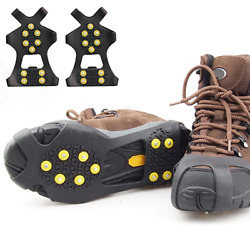 Silicone Ice Shoe Safety Cover Snow Climbing Walking Anti Slip Grippers Spikes $10.24