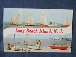 1950s Long Beach Island New Jersey Sail Boats Multi View Postcard