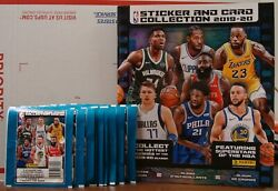 2019-20 PANINI NBA STICKERS WITH ALBUM 10 PACKS WITH 5 STICKERS PER PACK NEW