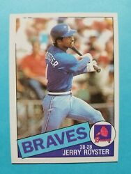 1985 Topps JERRY ROYSTER NO TOPPS LABEL ERROR CARD $85.00