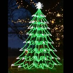LED Christmas Tree Outdoor Lighted Yard Art Display 3D Decoration Commercial $3,100.00