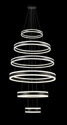 "Elipse 6 Ring LED Chandelier Chandeliers Modern Contemporary Lighting 32"" Wide $996.99"
