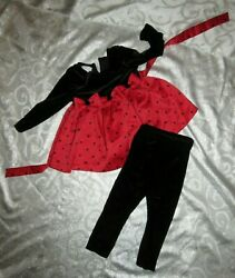 Bonnie Baby 2 Piece Red Black Outfit Size 18 Months $5.00