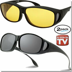 FIT OVER GLASSES NIGHT DRIVING HD AND FIT OVERS As Seen On TV SUNGLASSES FITOVER $11.95