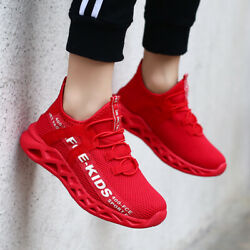 Kids Sneakers Boys Girls Running Shoes Lightweight Breathable Boys Tennis size $21.84