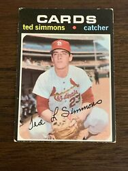 1971 TOPPS TED SIMMONS #117 CARDINALS HOFer VG-EX+ OR BETTER