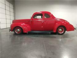 1940 Ford Deleux  1940 Ford Deleux 351W  V-8 Automatic   Red