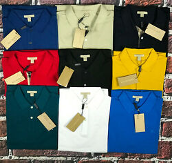 Burberry Brit Men's Short-Sleeve Pique Polo Shirt Check Placket S M L XL XXL 3XL $69.49