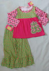 NWT Flit amp; Flitter 3 3T Girl Knit Set Outfit Christmas Holiday Boutique Pink $24.99