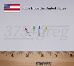 3mm Small LED Red Orange Yellow Green Blue or White 20 Pack $1.89