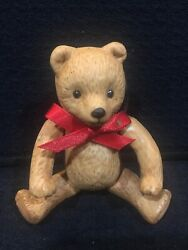 Dept. 56 Jointed Teddy Bear Valentines Baby Shower Christmas Ornament Porcelain $12.00