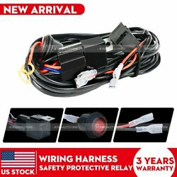 2Lead for LED Light Bar Wiring Harness Kit 12V 40Amp Fuse Relay ONOFF Switch $11.99