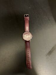 womens fossil watch leather band $25.00