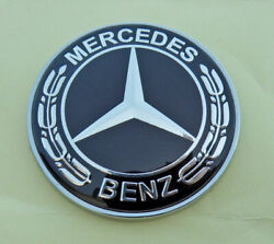 For MERCEDES BENZ C E SL CL S Class 57mm Black replacement hood emblem Free Ship $13.11