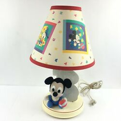 Disney Nursery Lamp Baby Minnie Mickey Mouse Goofy Vintage 1980s Plush Letter B $31.48