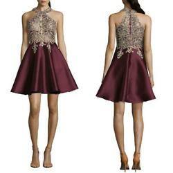 NEW XSCAPE Wine BEADED Embellished EMBROIDERED Mikado PARTY Prom DRESS Gown 12 $46.99