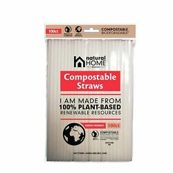 Natural Home Brands Compostable Drinking Straws in Frost 5 Pkgs 500 Ct Total $14.15