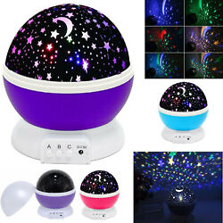 Constellation Night Light Baby Kids Lamp Moon Star Sky Projector Rotating Cosmos $12.98
