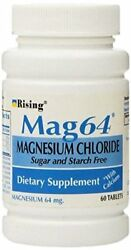 Mag64 Magnesium Chloride with Calcium Sugar and starch Free 60ct 5 Pack $29.04