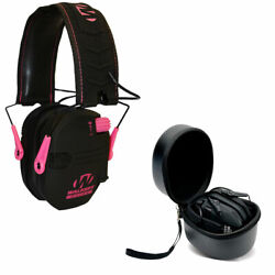 Walkers Razor Slim Electronic Ear Muffs Pink amp; Storage Carrying Case $57.99
