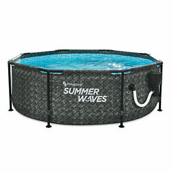 Summer Waves Active 8ft x 30in Above Ground Frame Swimming Pool Set with Pump $269.99