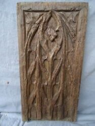 RARE 16TH CENTURY OAK CARVED  GOTHIC TRACERY PANEL