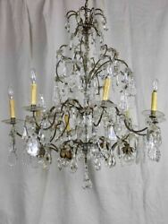 Large 19th Century French crystal chandelier - 16 lights