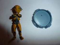 Halo Reach Avatar Elite UNSC yellow armor 3 mini figure 2012 McFarlane Toys! $4.27