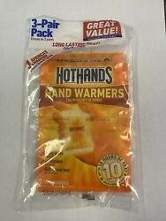 Hothands Air Activated Hand Warmers Up To 10 Hours Of Heat 3 Pairs Each $6.00